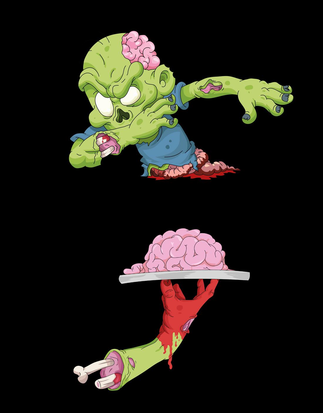 Diseño camiseta personalizada zombie