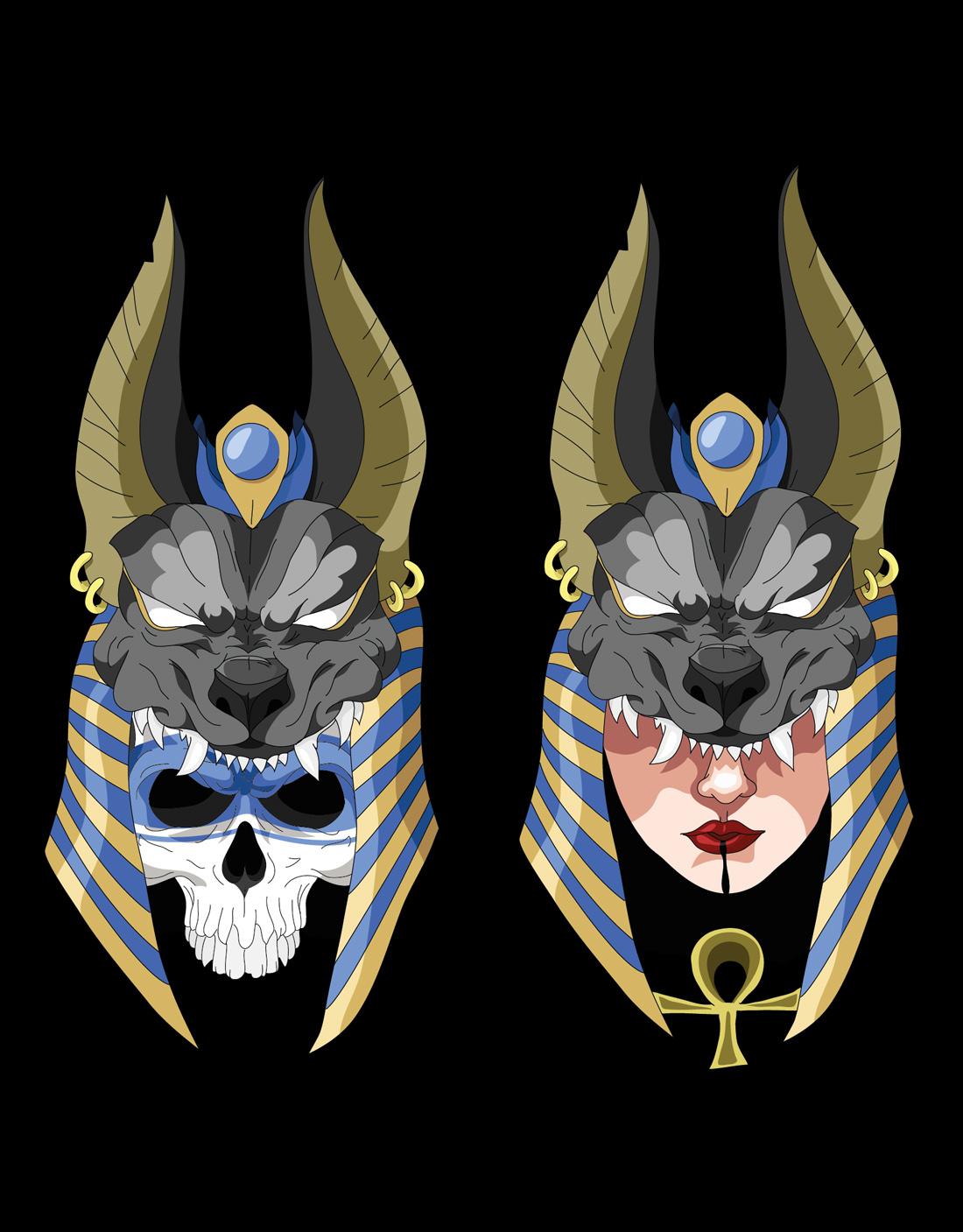 Diseño camiseta personalizada Calaveras Egipcia