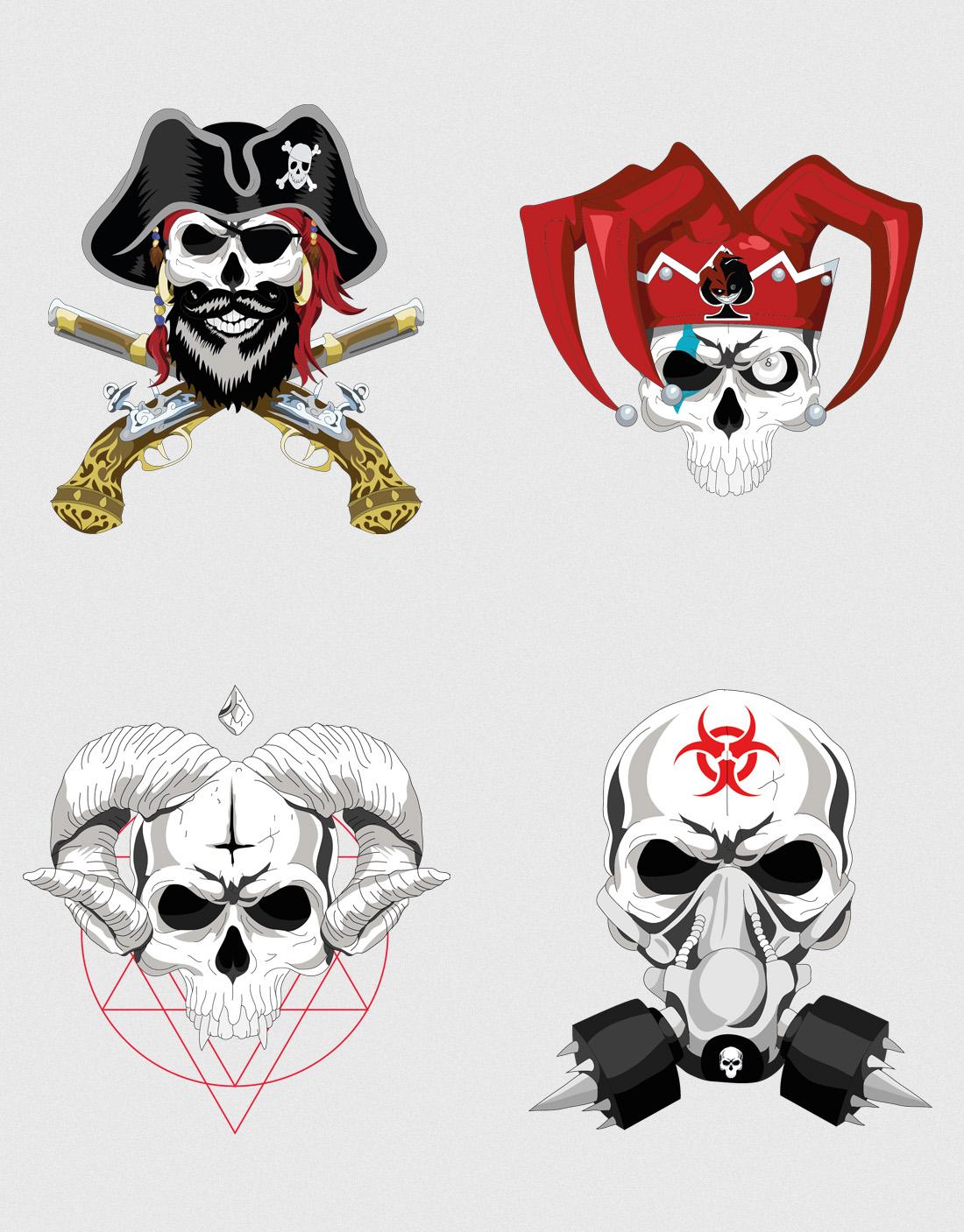 Diseño camiseta personalizada Skulls