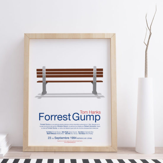 cuadro de pelicula personalizado Forrest Gump