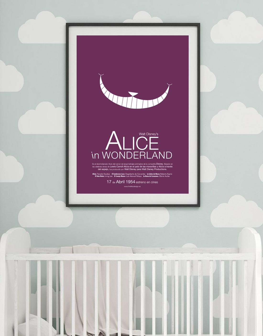 cuadro de pelicula personalizado Alicia en el pais de las maravillas