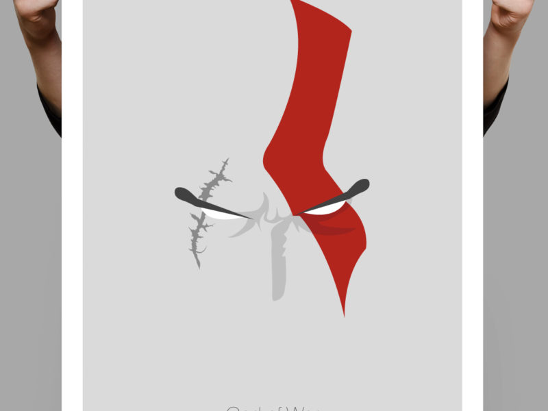 Diseño personalizado de poster Wod of war (Kratos)